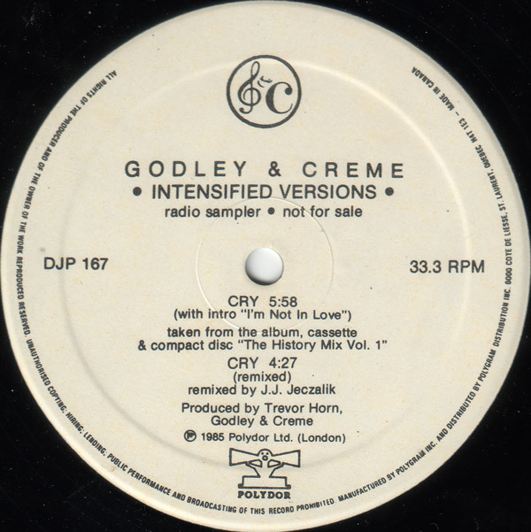 Godley & Creme - Cry: Intensified Versions