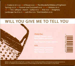 John Cage - Will You Give Me To Tell You