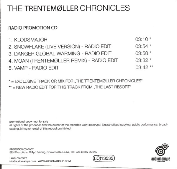 Trentemøller - The Trentemøller Chronicles Sampler
