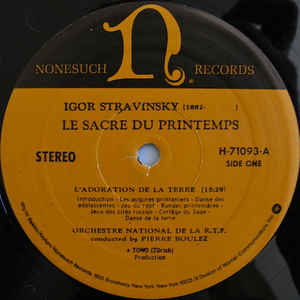 Igor Stravinsky - The Rite Of Spring