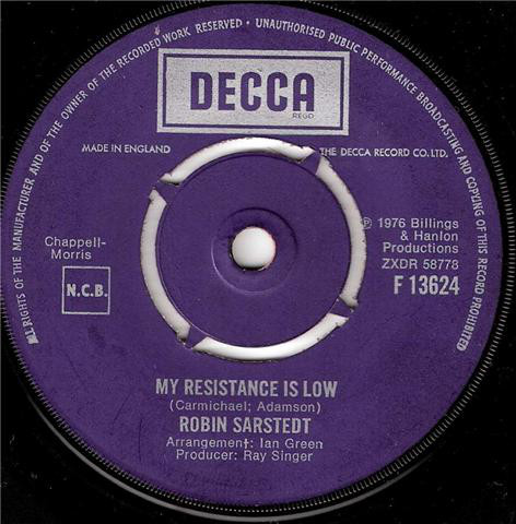 Robin Sarstedt - My Resistance Is Low