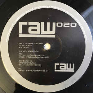 Guy McAffer, Rackitt - RAW 020 cover of release