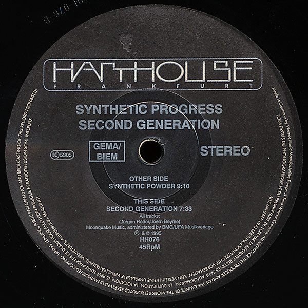 Synthetic Progress - Second Generation