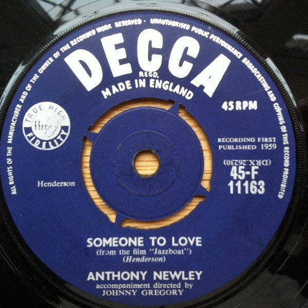 Anthony Newley - Someone To Love / It's All Over