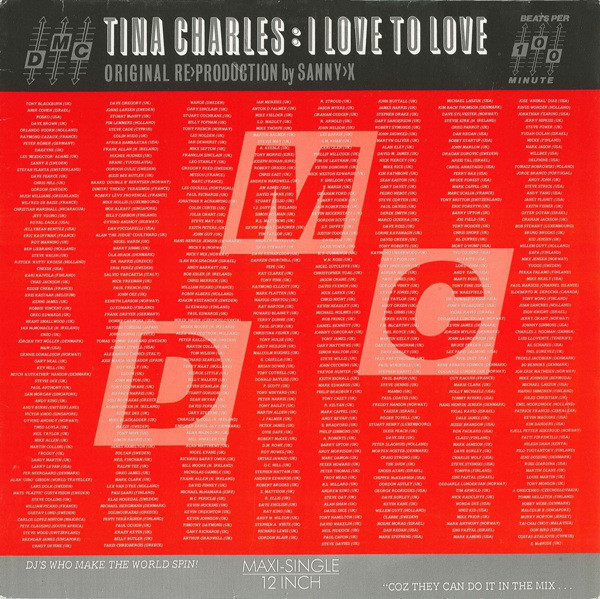 Tina Charles - I Love To Love (Original Re>Production By Sanny-X)
