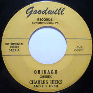Charlie Hicks And His Orchestra - Chicago Oberek / Admiral Polka