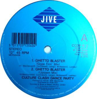 Culture Clash Dance Party - Ghetto Blaster