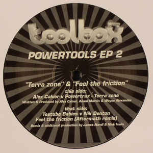 Alex Calver, Powertrax, Testube Babies, Nik Denton - Powertools EP 2 cover of release
