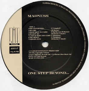 Madness - One Step Beyond... cover of release