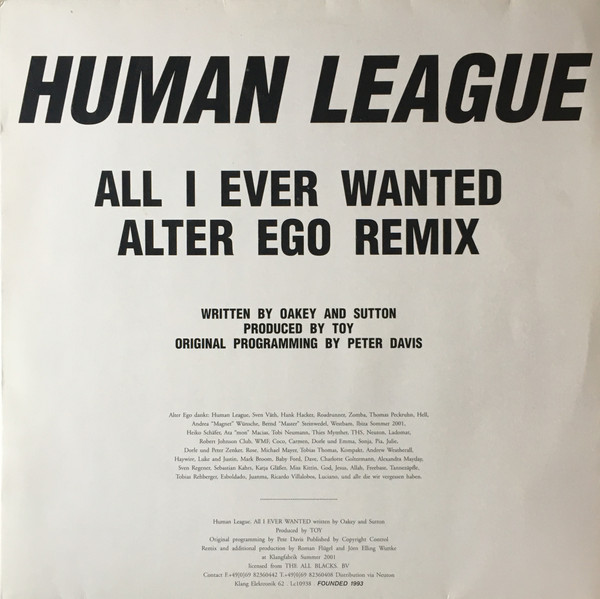 Human League, The - All I Ever Wanted (Alter Ego Remix)