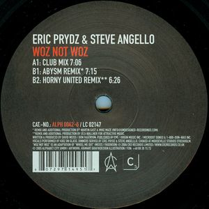 Eric Prydz, Steve Angello - Woz Not Woz cover of release