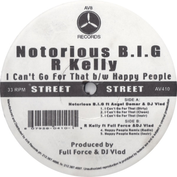 R. Kelly - I Can't Go For That / Happy People Remix