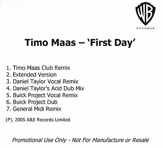 Timo Maas - First Day
