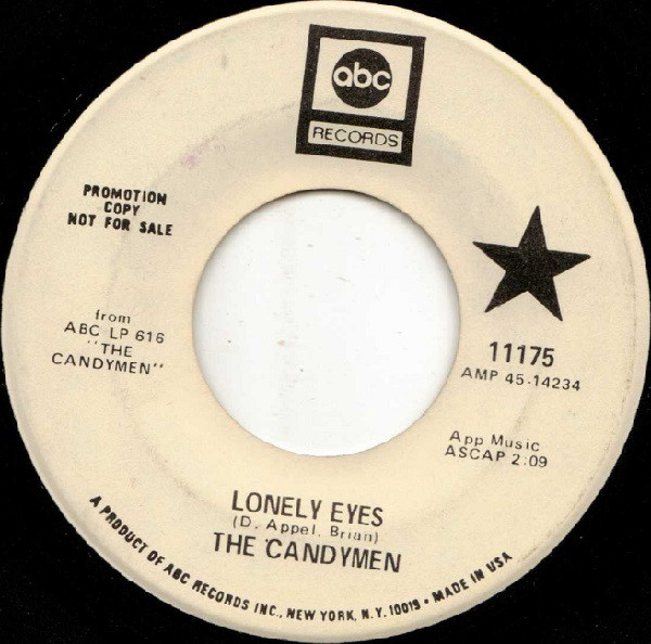 Candymen, The - Lonely Eyes / I'll Never Forget
