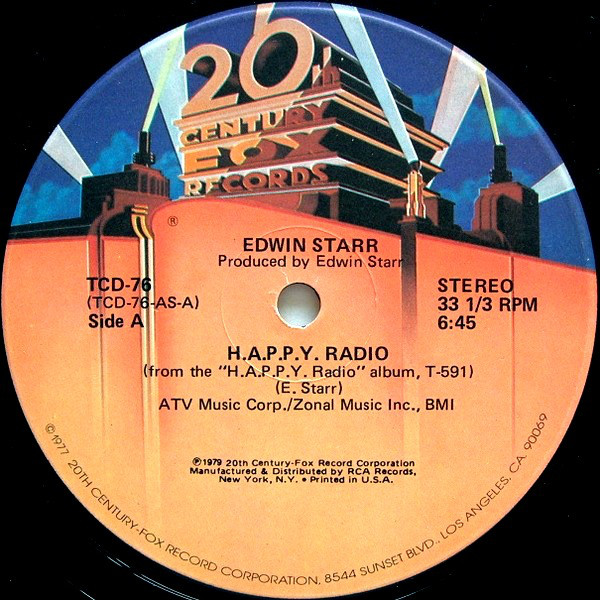 Edwin Starr - H.A.P.P.Y. Radio / My Friend