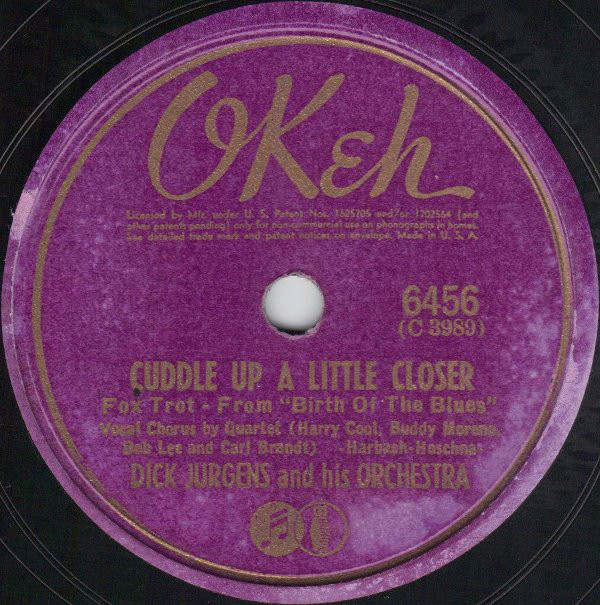 Dick Jurgens And His Orchestra - Cuddle Up A Little Closer / The Bells Of San Raquel