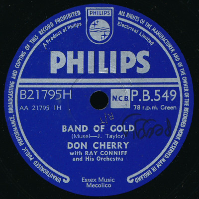Don Cherry (2) - Band Of Gold / Rumble Boogie