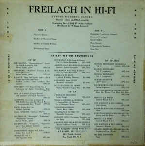 Murray Lehrer & Ensemble - Freilach In Hi-Fi: Jewish Wedding Dances, Vol. 1