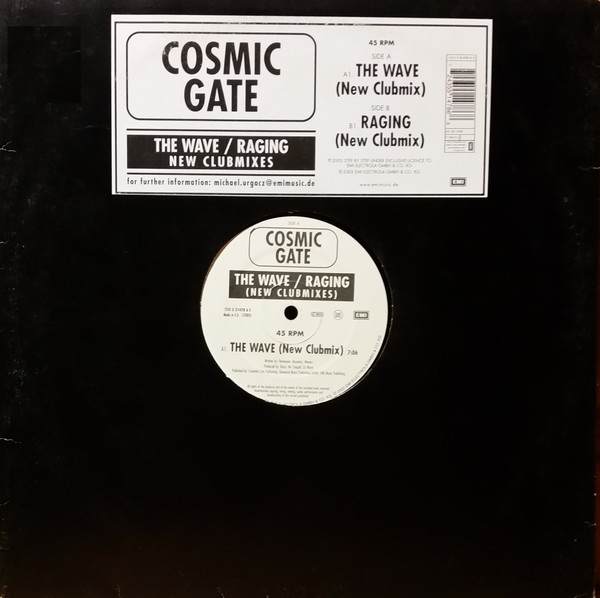 Cosmic Gate - The Wave / Raging (New Clubmixes)
