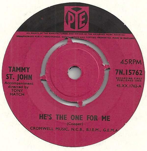 Tammy St John - He's The One For You / I'm Tired Just Lookin' At You