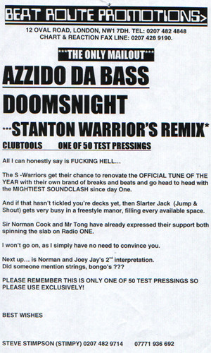 Azzido Da Bass - Dooms Night (Revisited)