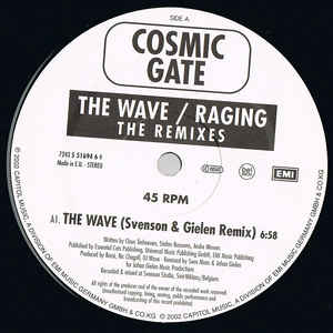 Cosmic Gate - The Wave / Raging (Remixes) cover of release