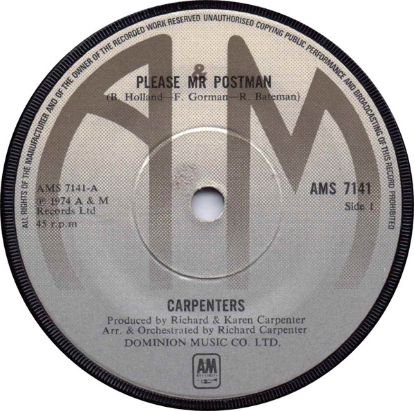 Carpenters - Please Mr Postman