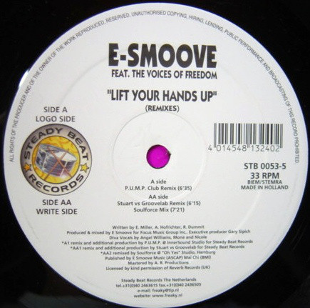 E-Smoove - Lift Your Hands Up (Remixes)