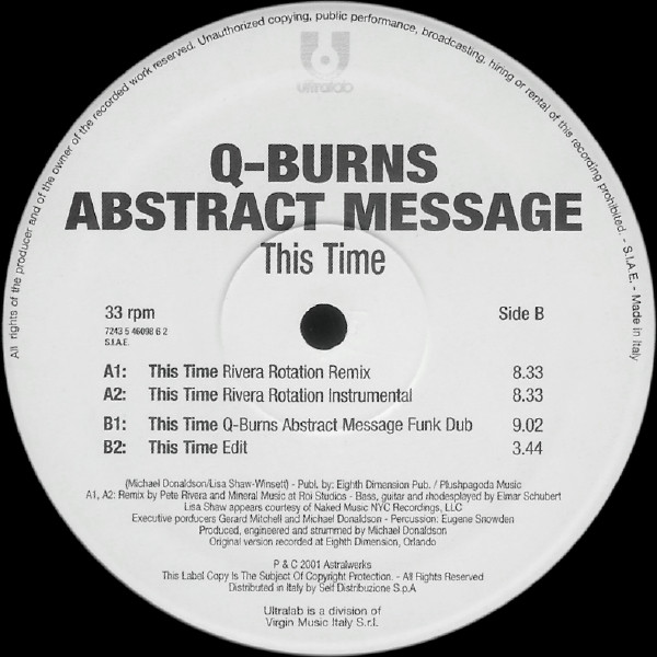 Q-Burns Abstract Message - This Time