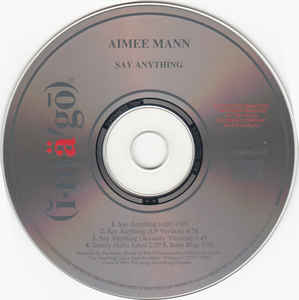 Aimee Mann - Say Anything cover of release