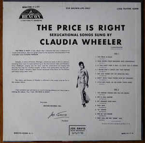 Claudia Wheeler - The Price Is Right