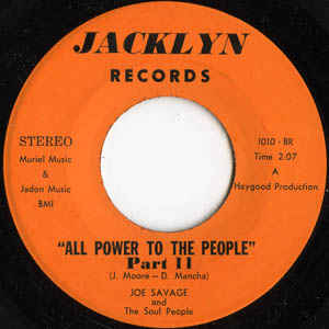 Joe Savage And The Soul People - All Power To The People