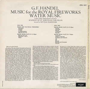 Georg Friedrich Händel - Music For The Royal Fireworks / Water Music